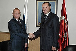 Russian president Vladimir Putin and Turkish P...