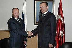 Russian president Vladimir Putin and Turkish P...