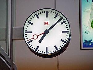 A typical Deutsche Bahn railway station clock