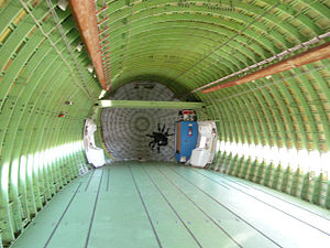 Aft end of the interior of NASA's 747 Shuttle ...