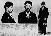 The information card on Joseph Stalin, from the files of the Tsarist secret police in St. Petersburg, 1912.