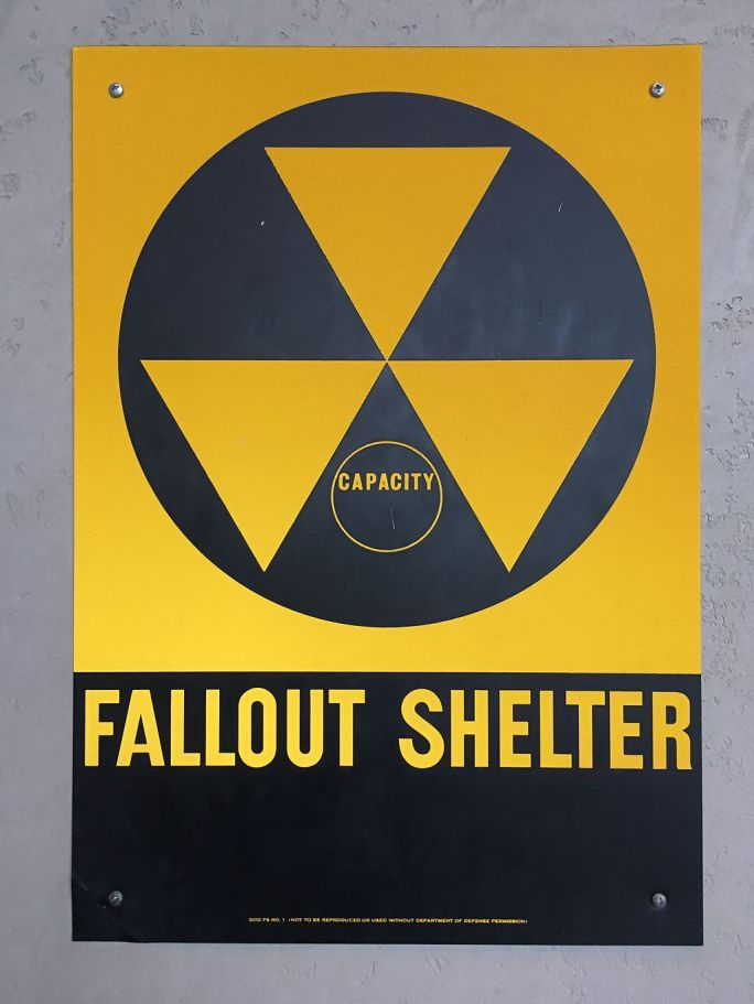 United States of America Fallout shelter sign