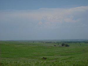A view of the Flint Hills of Kansas in Wabauns...