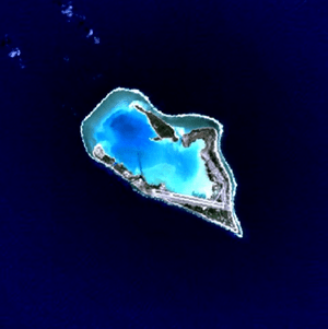 Wake Island is a volcanic island that has beco...