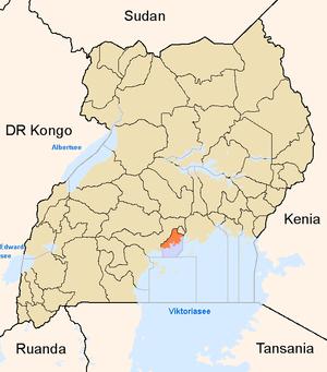 District location in Uganda