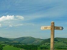 Wegmarkierung auf Glyndŵr's Way