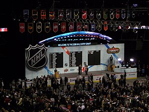 English: Stage for NHL Entry Draft