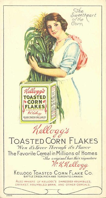 English: blotter with advertising for Kellogg'...