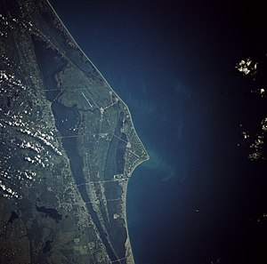 Cape Canaveral as seen from orbit by a space s...