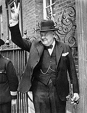 Churchill's V-sign