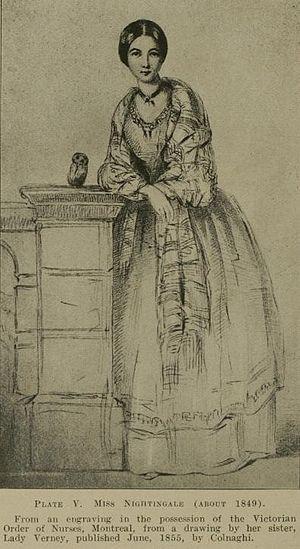Illustration of Florence Nightingale