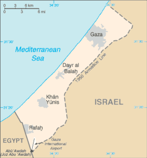 A map of the Gaza Strip