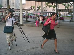 Reporters on the go