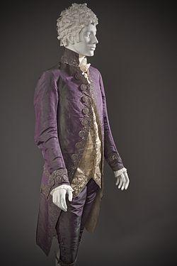 250px Man%27s shot silk suit c. 1790 altered c. 1805 19th Century Fashion