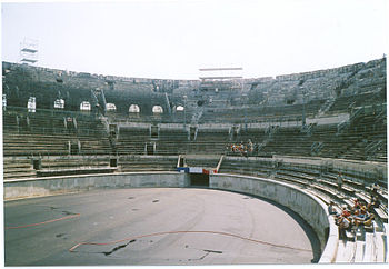 English: Arena in Nîmes (Gard, France).