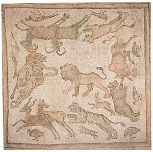 English: Roman mosaic, Daphne (Antioch), Syria...
