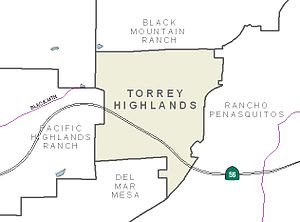 English: Map of Torrey Highlands.