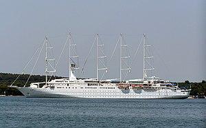 English: Cruise ship Wind Surf in Pula, Croatia