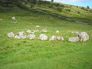 English: Yockenthwaite Stone Circle A small (2...