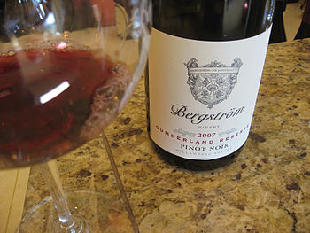 Oregon Pinot noir wine from Bergstrom in the W...
