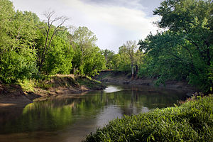 The Caney River, taken facing south near the F...