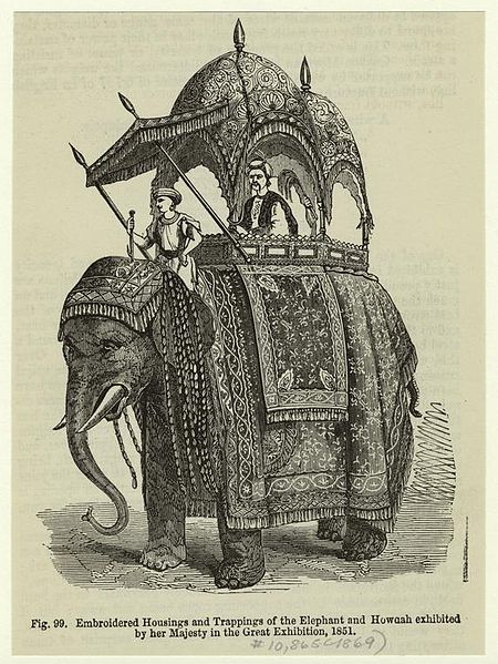 File:Embroidered housings and trappings of the elephant and Howdah exhibited by her Majesty in Great Exhibition.jpg