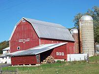 Image of a family farm near Stockbridge, Wisconsin, United States