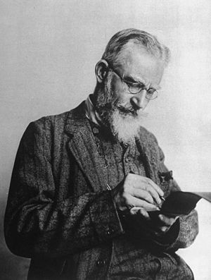 Anglo-Irish playwright George Bernard Shaw wri...