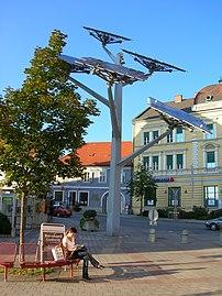 """The """"solar tree"""", a symbol of Gleisdorf"""