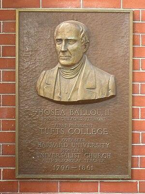 Plaque honoring Hosea Ballou, II, at Tufts Uni...