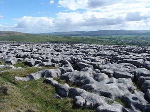 English: Limestone Pavement at Twisleton Scar ...