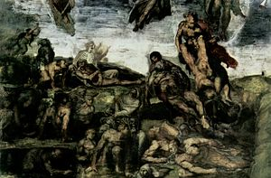The resurrection of the dead by Michelangelo B...