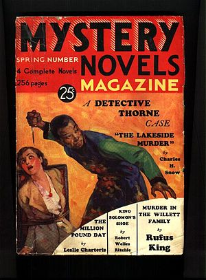 Cover of the pulp magazine Mystery Novels Maga...