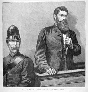"""Ned Kelly in the Dock - A Scene from Lif..."
