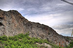 An outcropping of Canadian Shield in the Old T...