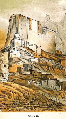 Lithographs of the Leh palace