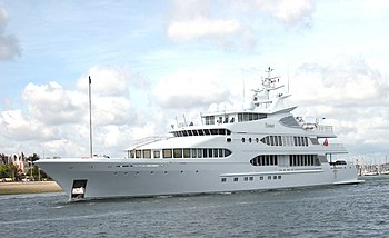 A yacht in Lorient, Bretagne, France
