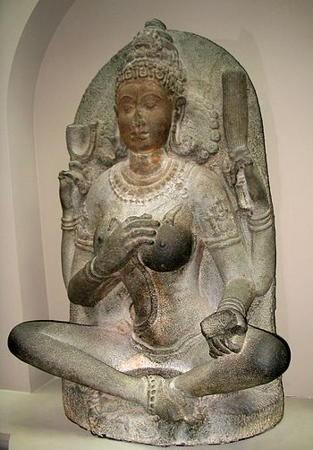 This statue of a yogini goddess was created in...