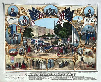 1870 celebration of the Fifteenth Amendment as...