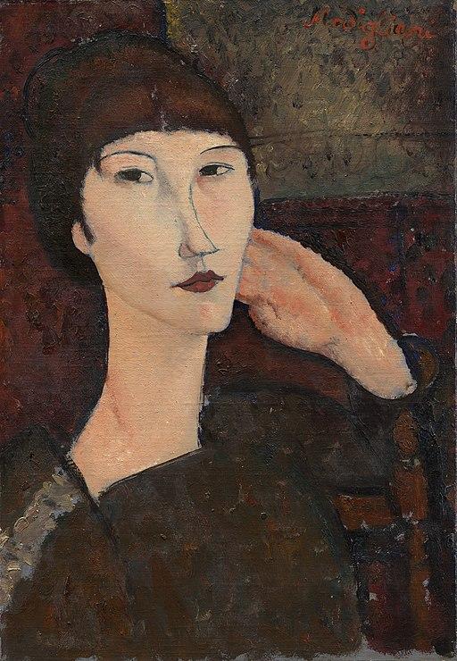 Amedeo Modigliani - Adrienne (Woman with Bangs)