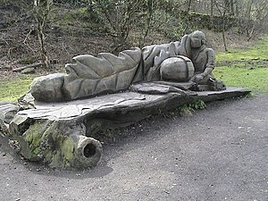 Bench on the High Peak Trail, near Cromford. T...