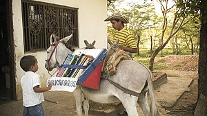 , traveling library in Colombia