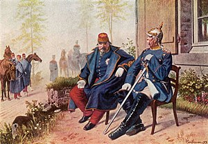 Napoleon III having a conversation with Fürst ...