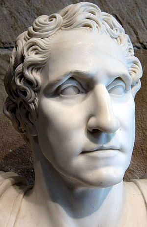 English: An 1819 bust of George Washington hou...