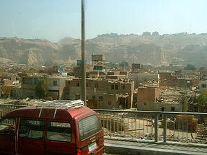 Suburban slum in Cairo