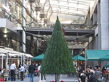 christmas tree at shopping mall