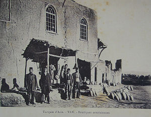 Comercio de armenios en la ciudad de Van (Turquía)