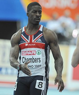 Dwain Chambers at the European Athletics Indoo...