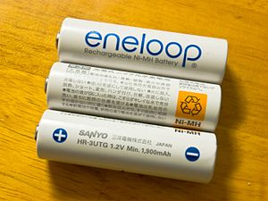 Eneloop AA batteries, an example of Low self-d...