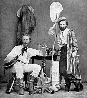 Ernst Haeckel and his assistant Nicholas Miklo...